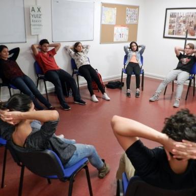 Séance de groupe pour l'école de langues French In Normandy